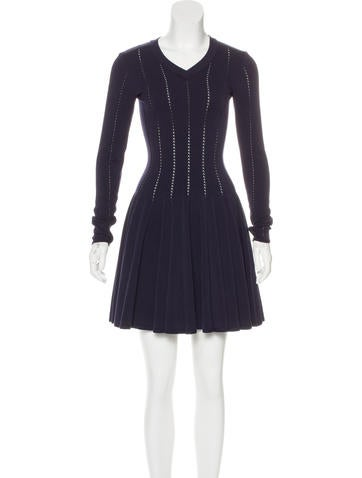 Alaïa Wool Fit And Flare Dress None