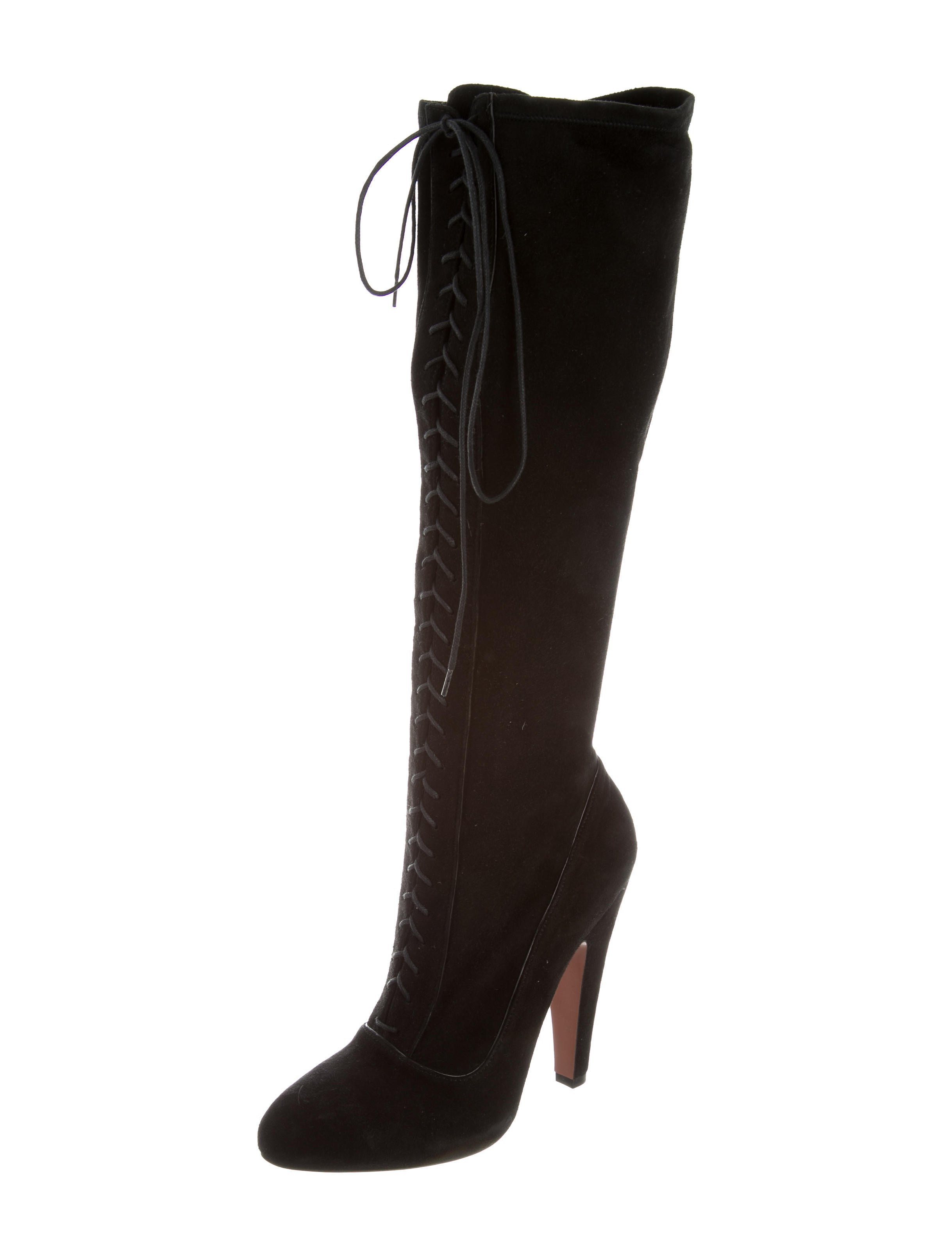 ala 239 a suede lace up boots shoes al230970 the realreal