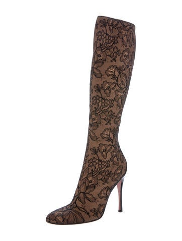 ala 239 a lace knee high boots shoes al231210 the realreal