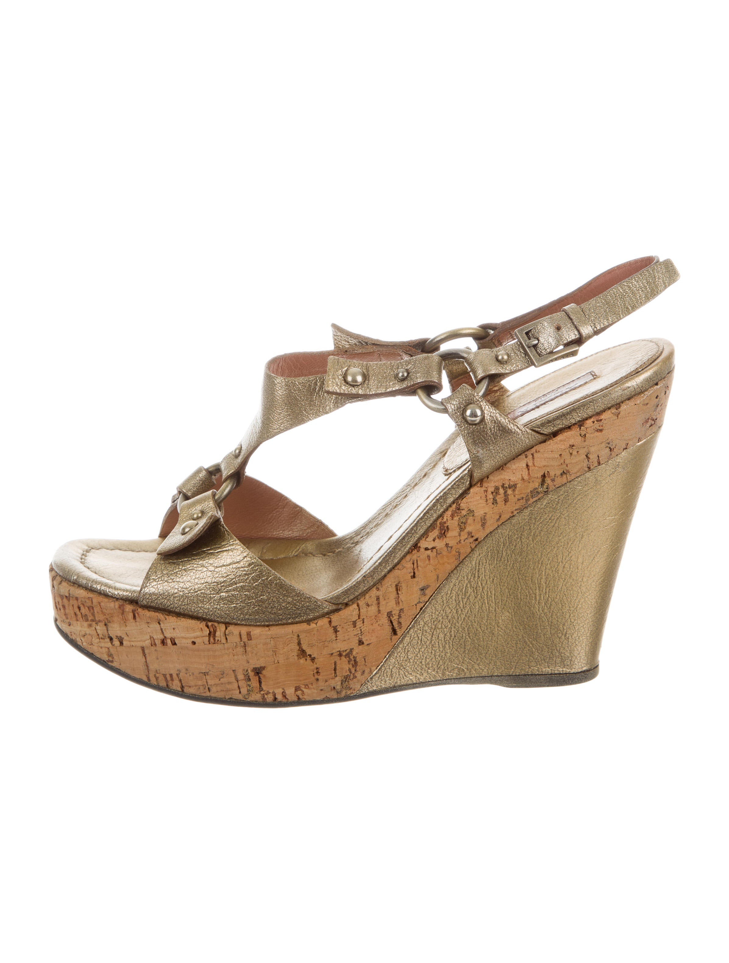 ala 239 a metallic platform wedge sandals shoes al231418