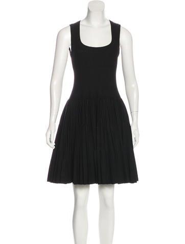 Alaïa Wool Fit & Flare Dress None