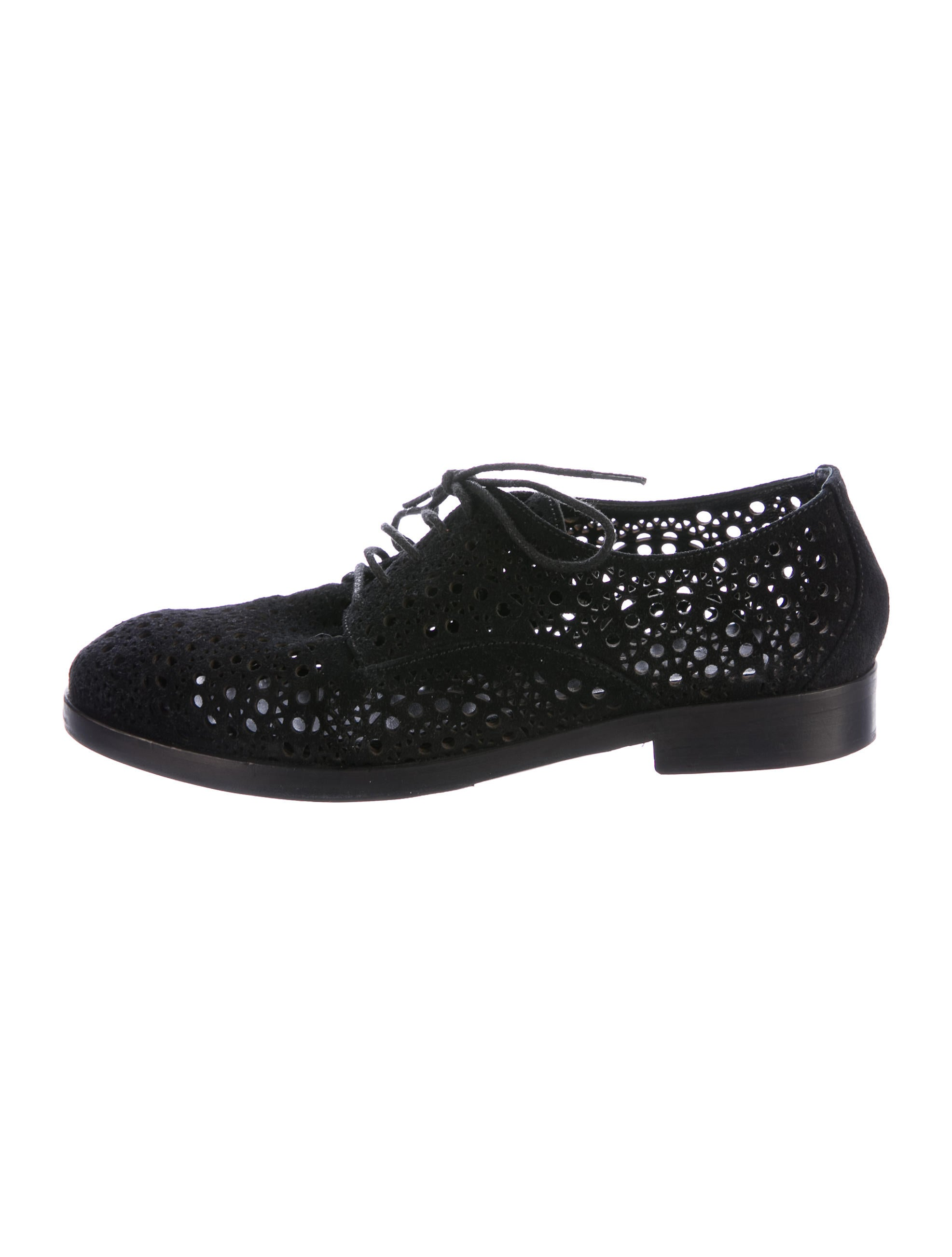 Alaïa Laser-Cut Lace-Up Oxfords cheap sale manchester great sale clearance high quality lowest price for sale cheap good selling Cj5FM0zyA