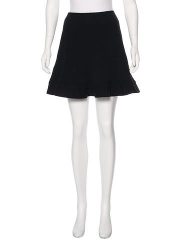 Alaïa Flared Virgin Wool Skirt None