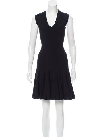 Alaïa Knee-Length Fit and Flare Dress None