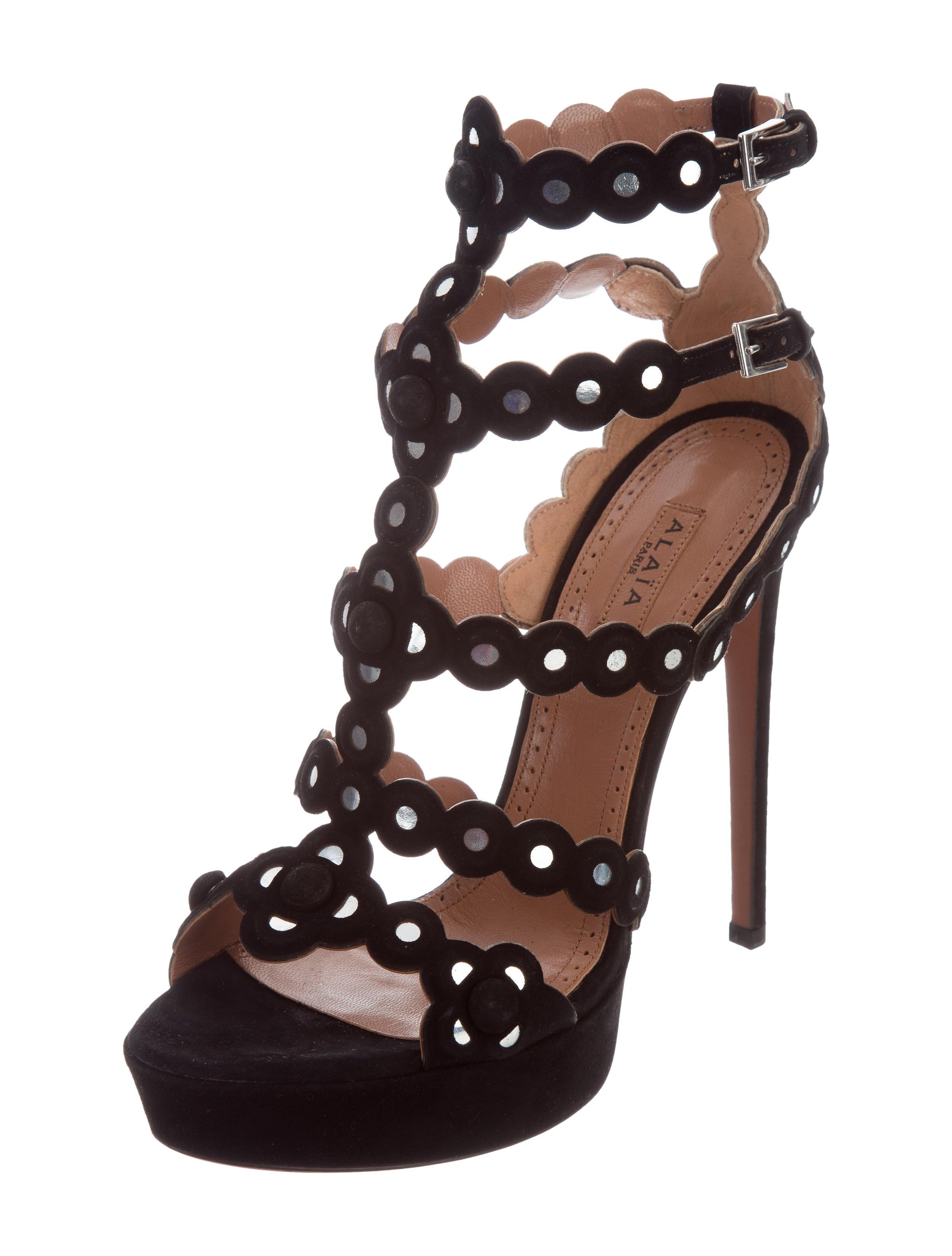 Alaïa Platform Cage Sandals outlet shop 7rEfg8Ud