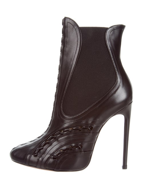 Alaïa Leather Ankle Boots Black