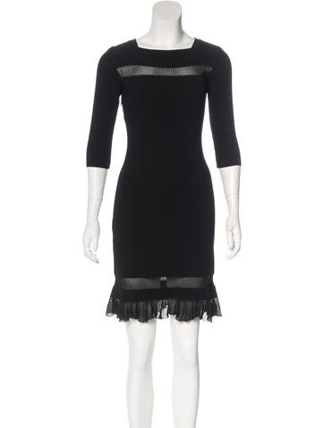 Alaïa Rib Knit Sheath Dress None