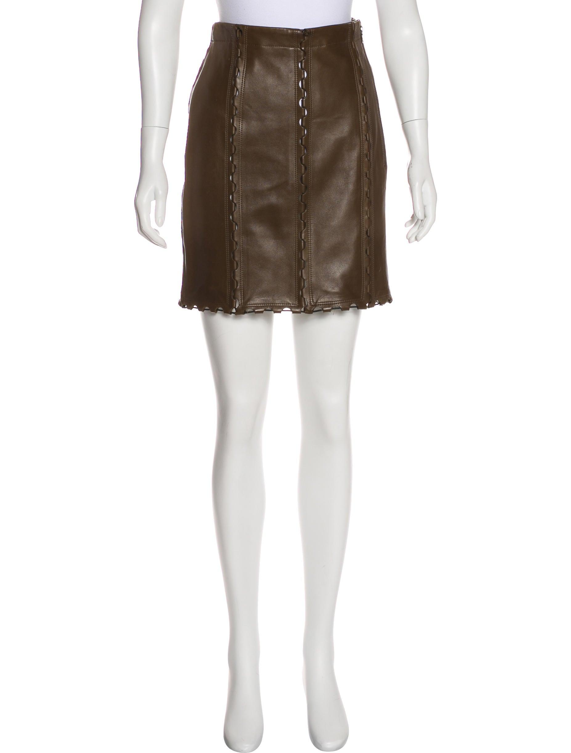 ala 239 a leather mini skirt clothing al232151 the realreal