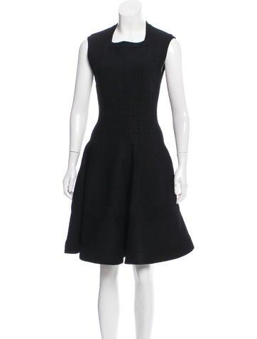 Alaïa Knee-Length Fit & Flare Dress None