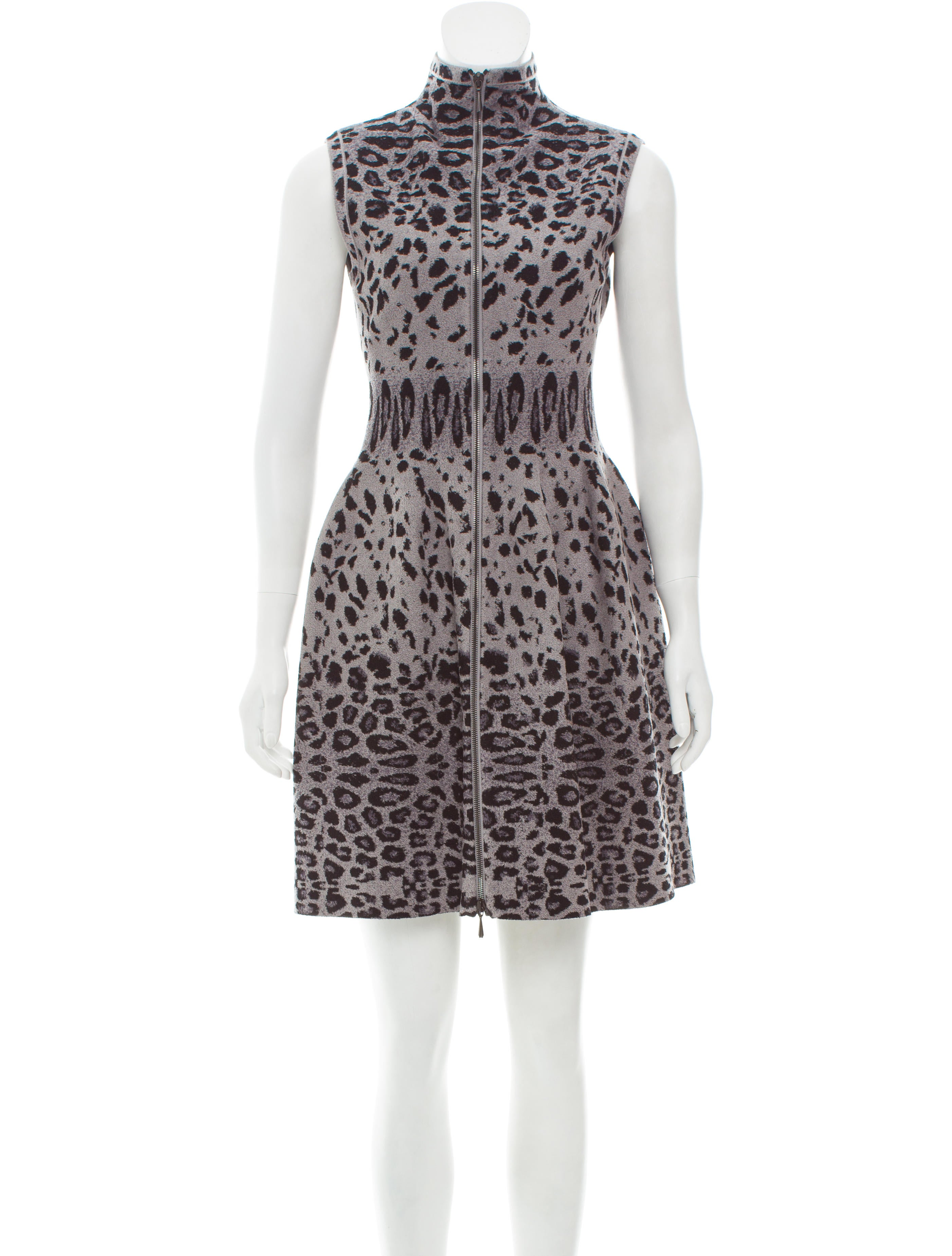 a33622234d3 Alaïa Leopard-Printed Fit and Flare Dress - Clothing - AL232366 ...