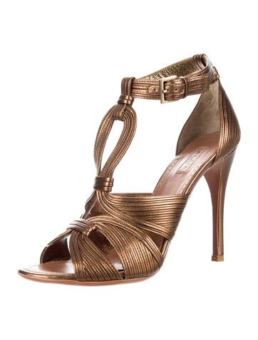free shipping store clearance online amazon Alaïa Metallic Cage Sandals XhOLg2K