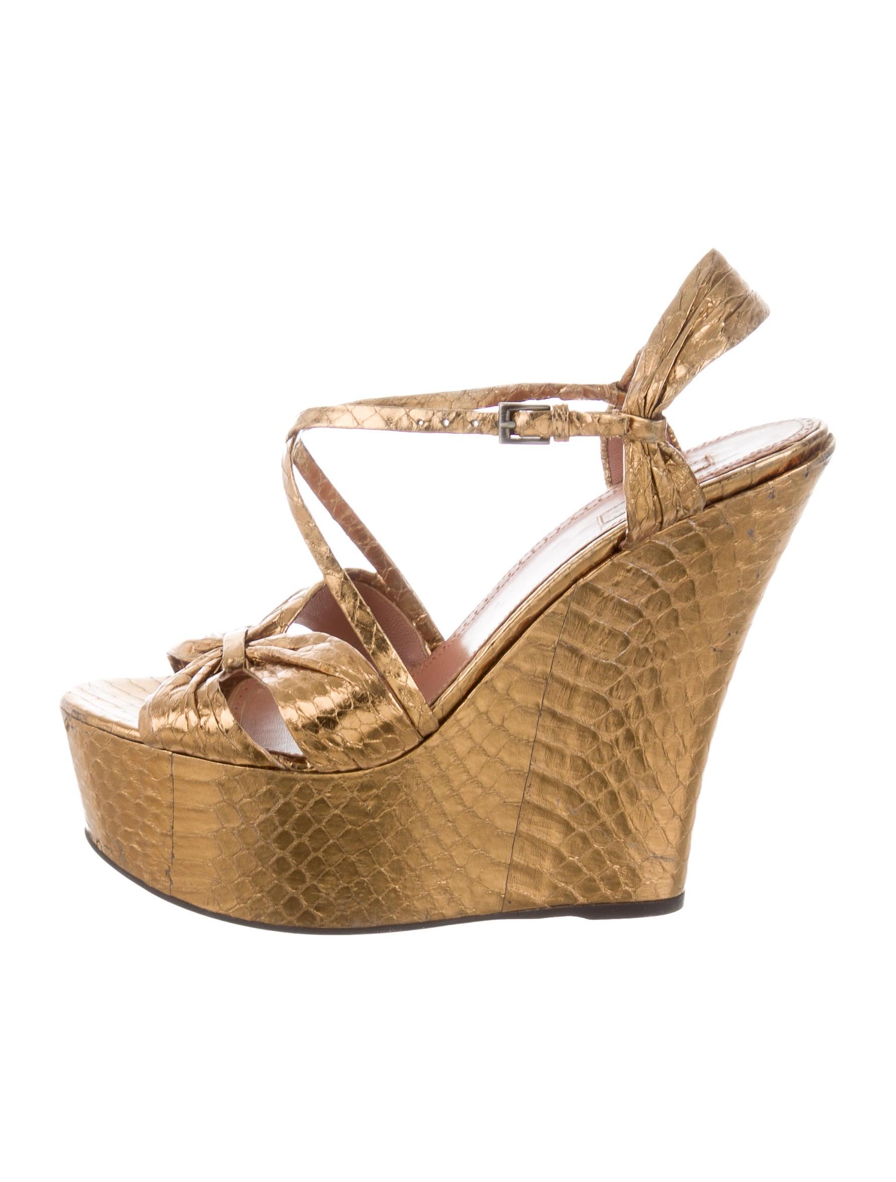 Alaïa Snakeskin Wedge Sandals browse 2014 unisex discount best seller JKXJq