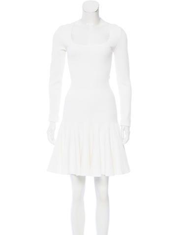 Alaïa Flared Knit Dress None