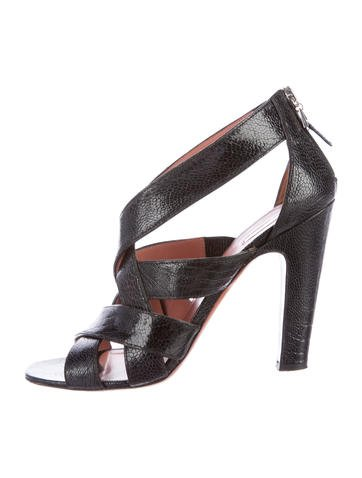 get to buy for sale Alaïa Ostrich Leg Multistrap Sandals discount sneakernews dKsbtW4ip0