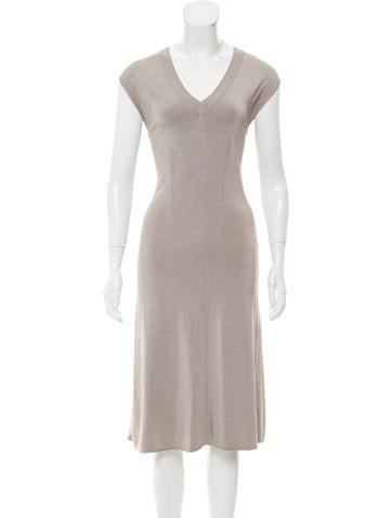 Alaïa Sleeveless Midi Dress None
