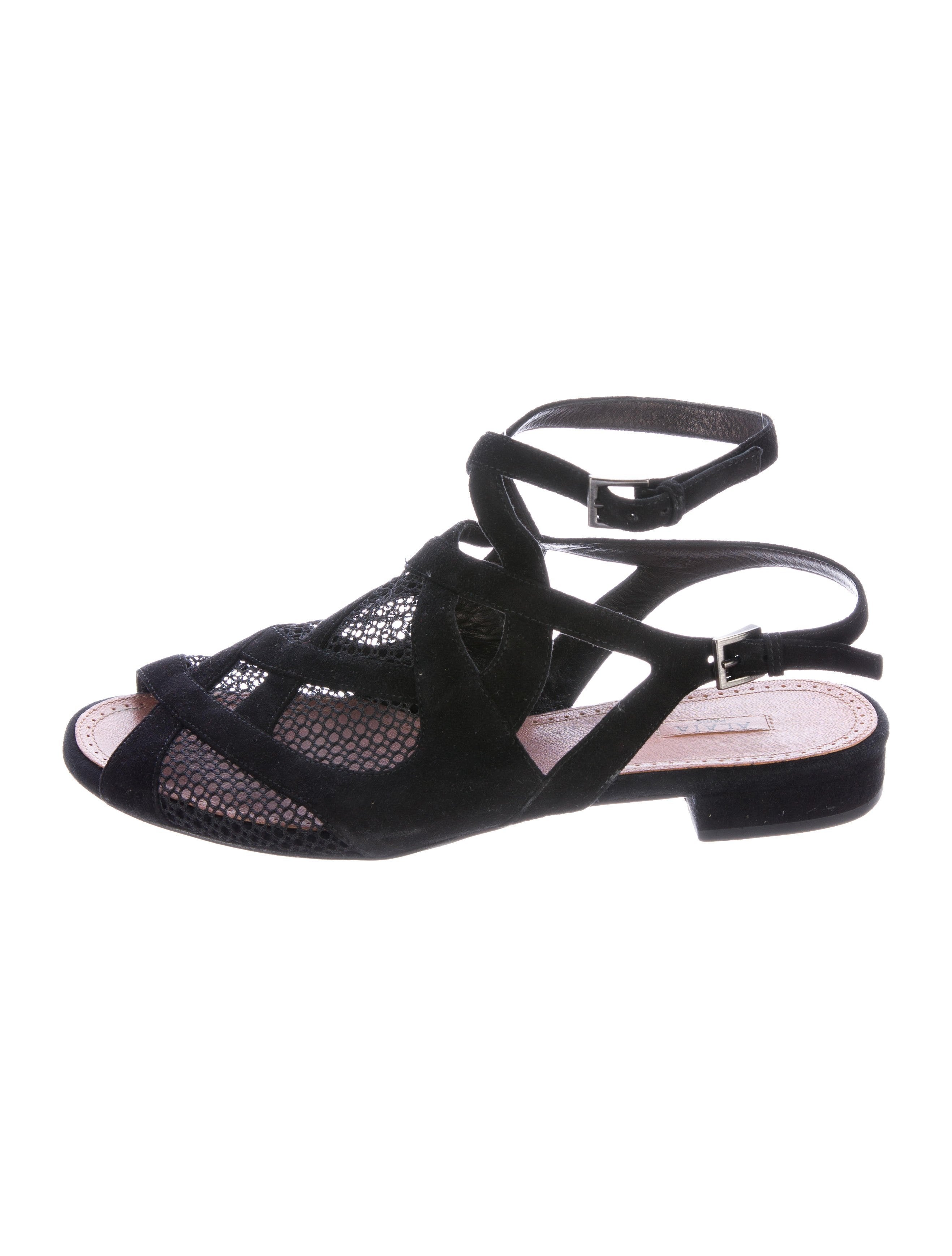 Alaïa Mesh Multistrap Sandals