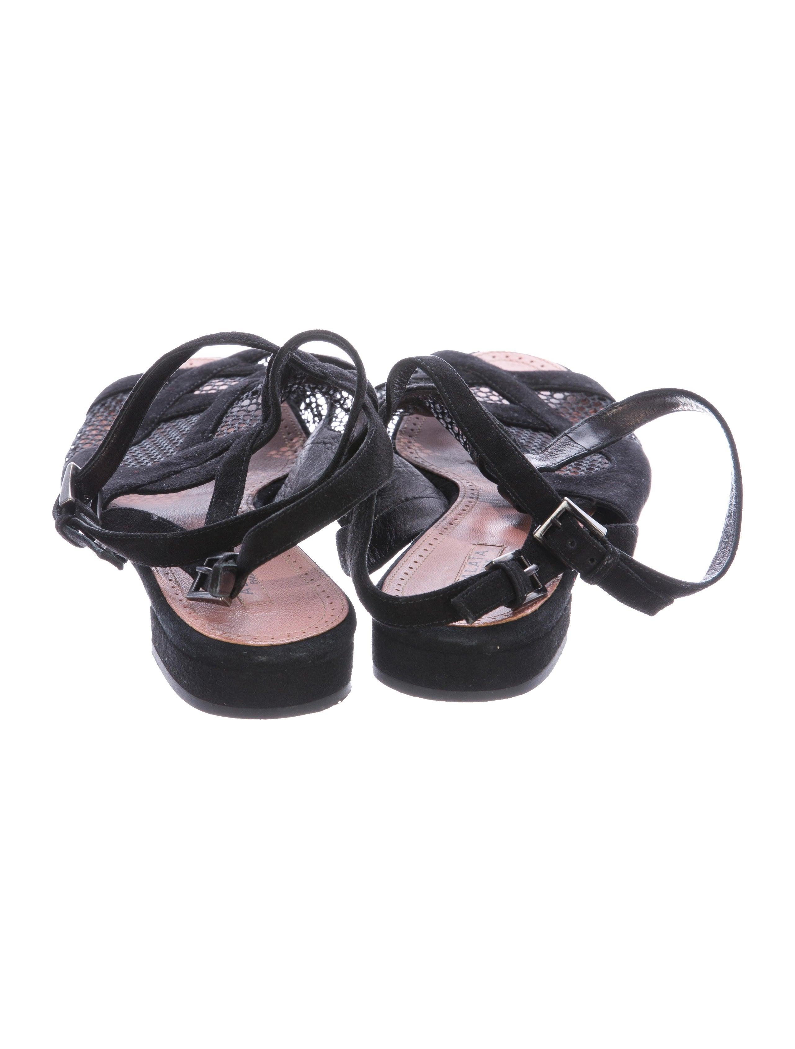 sale pre order Alaïa Mesh Multistrap Sandals outlet outlet visit new bUIA5
