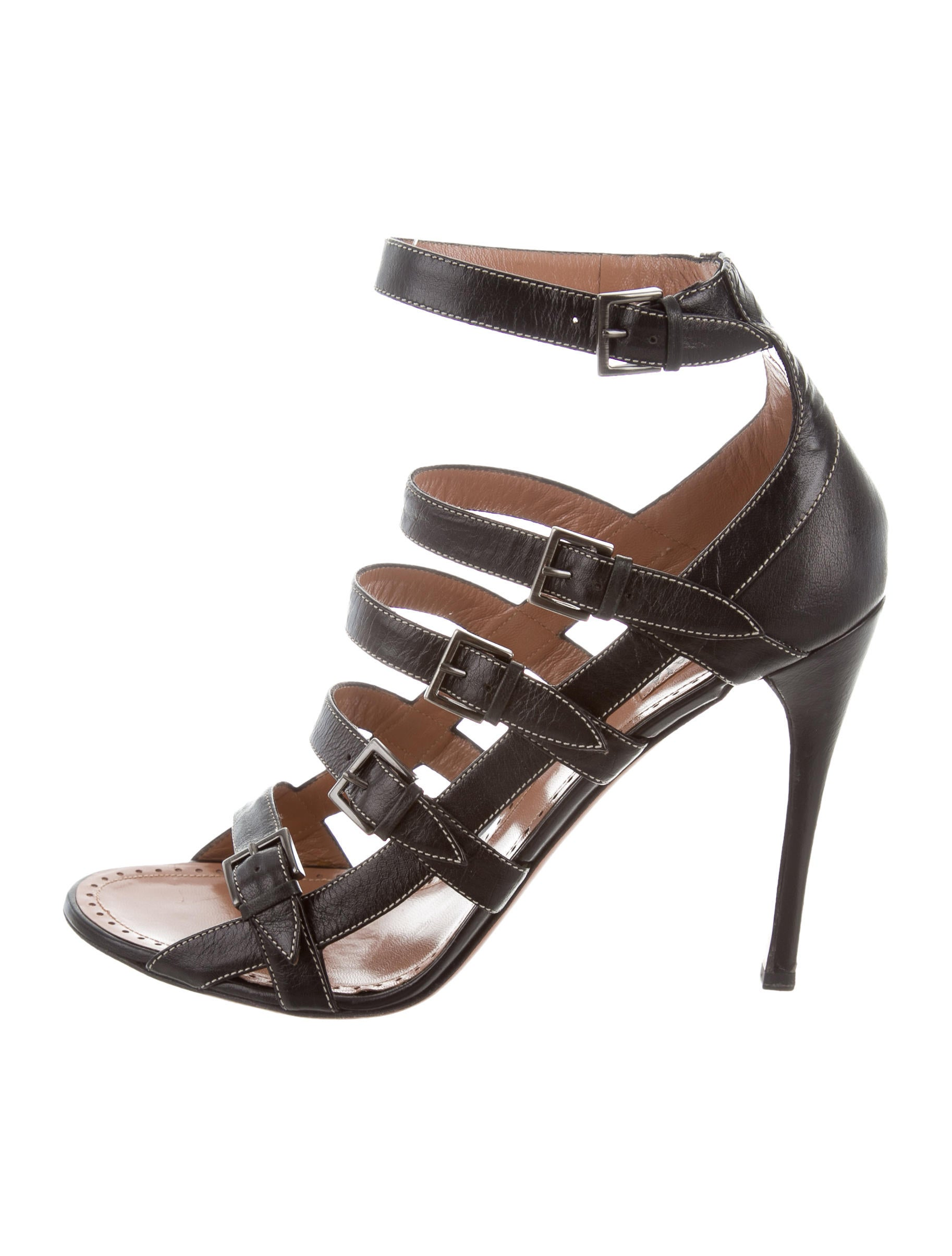 Alaïa Jewel-Embellished Cage Sandals fake cheap price sale best place low cost sale online 6VJimhb