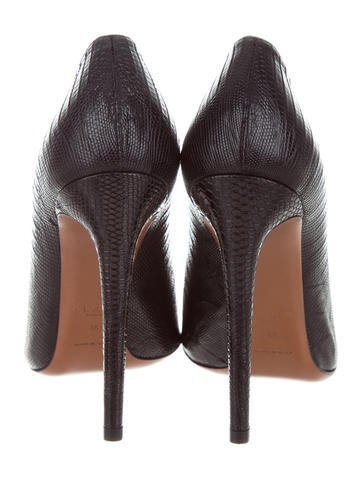 cheap prices authentic Alaïa Semi Pointed-Toe Lizard Pumps wide range of for sale fashionable for sale best store to get buy cheap under $60 ySOM3