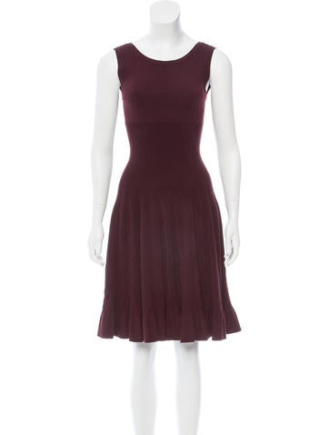Alaïa Fit and Flare Dress None
