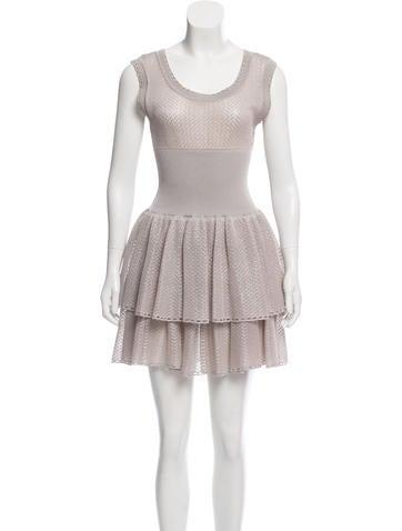Alaïa Fit & Flare Sleeveless Dress None