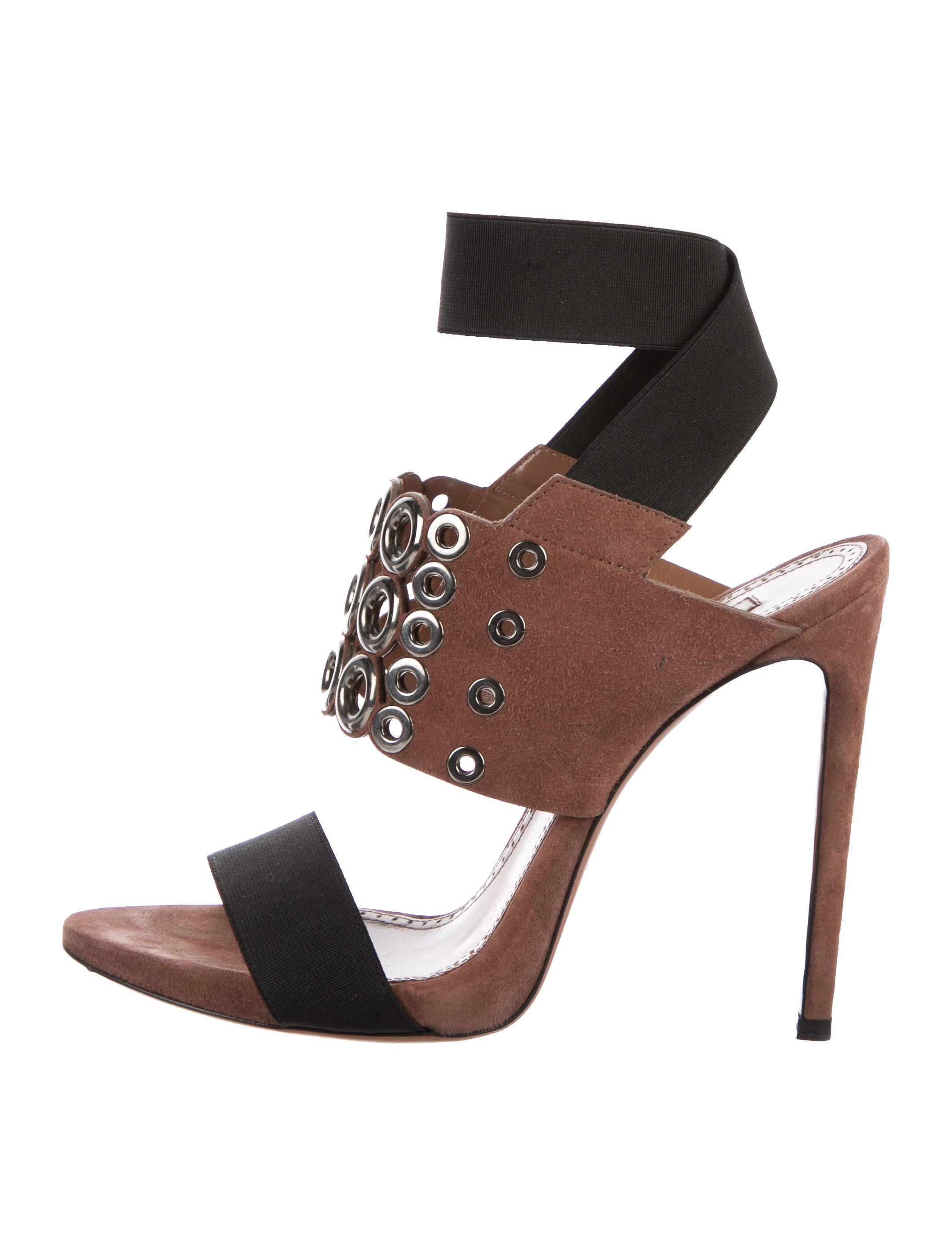 Alaïa Grommet Suede Sandals cheap sale low cost official site cheap online pictures cheap price sale high quality VqGWncieXe
