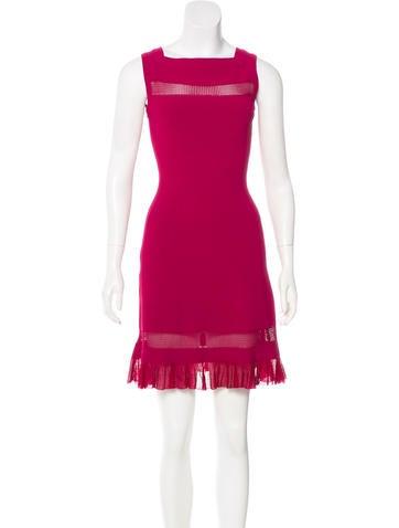 Alaïa Fit & Flare Mini Dress None