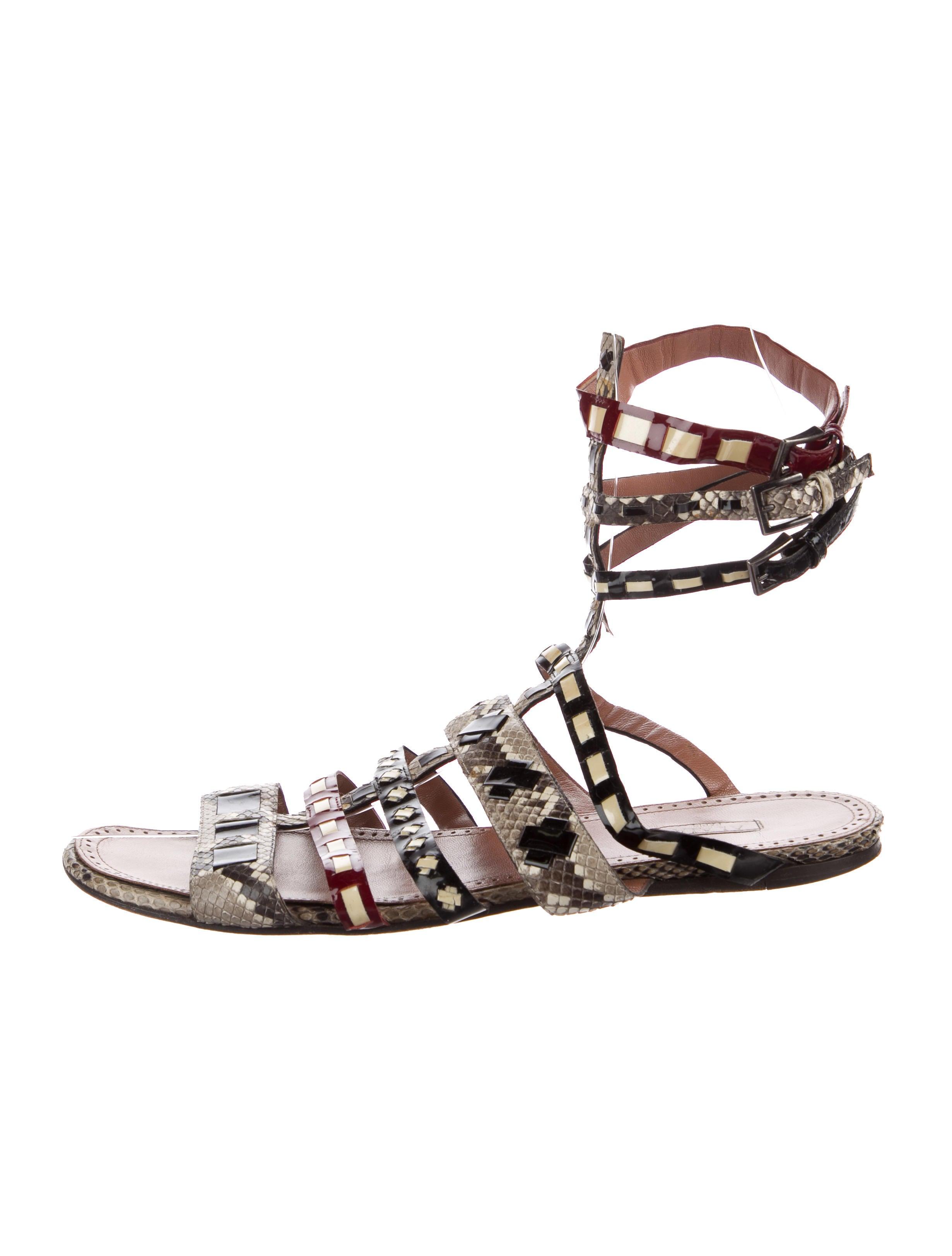 Alaïa Snakeskin Gladiator Sandals free shipping original buy cheap professional oNeeUYRosW