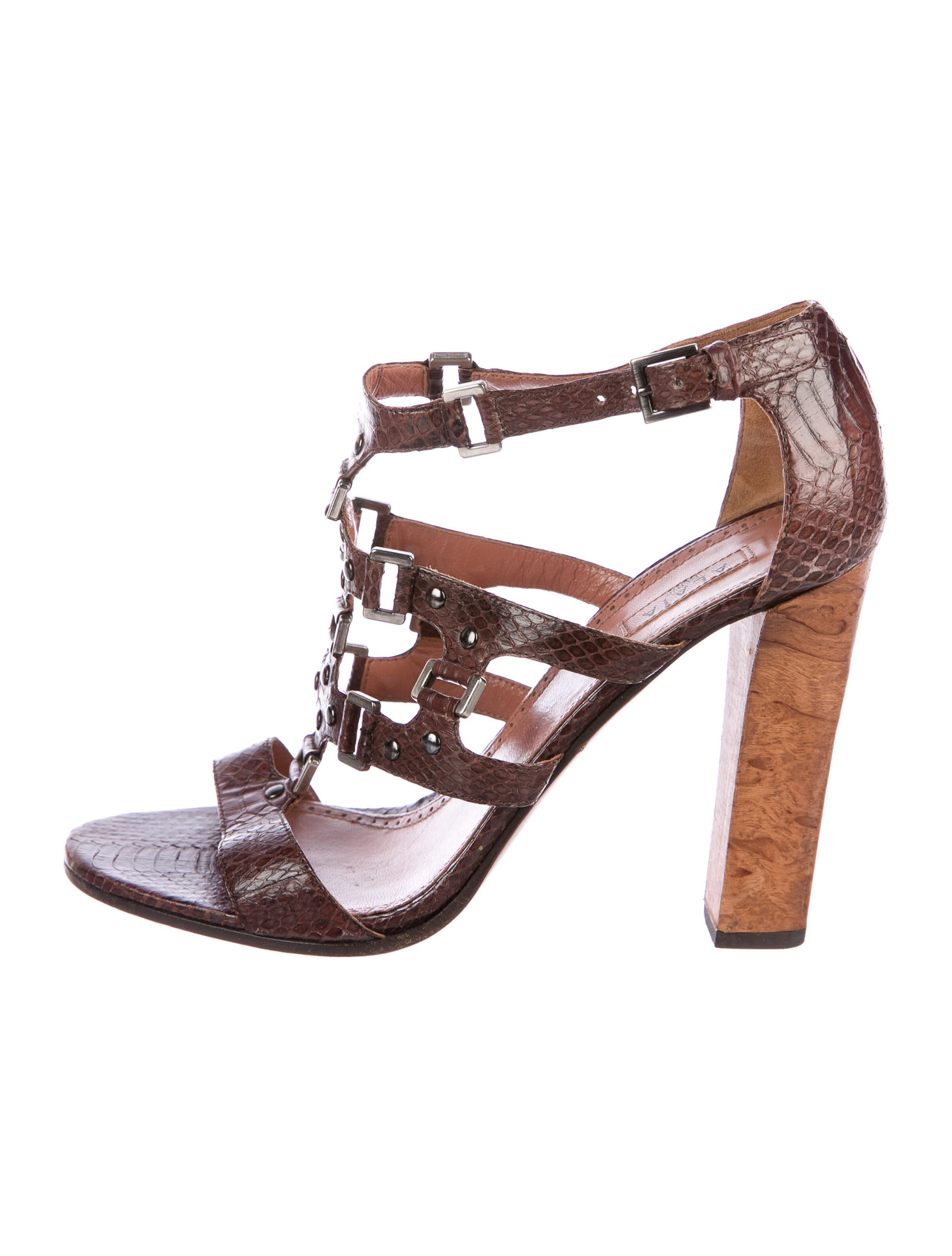 Alaïa Snakeskin Caged Sandals clearance fashionable H702G0pWe