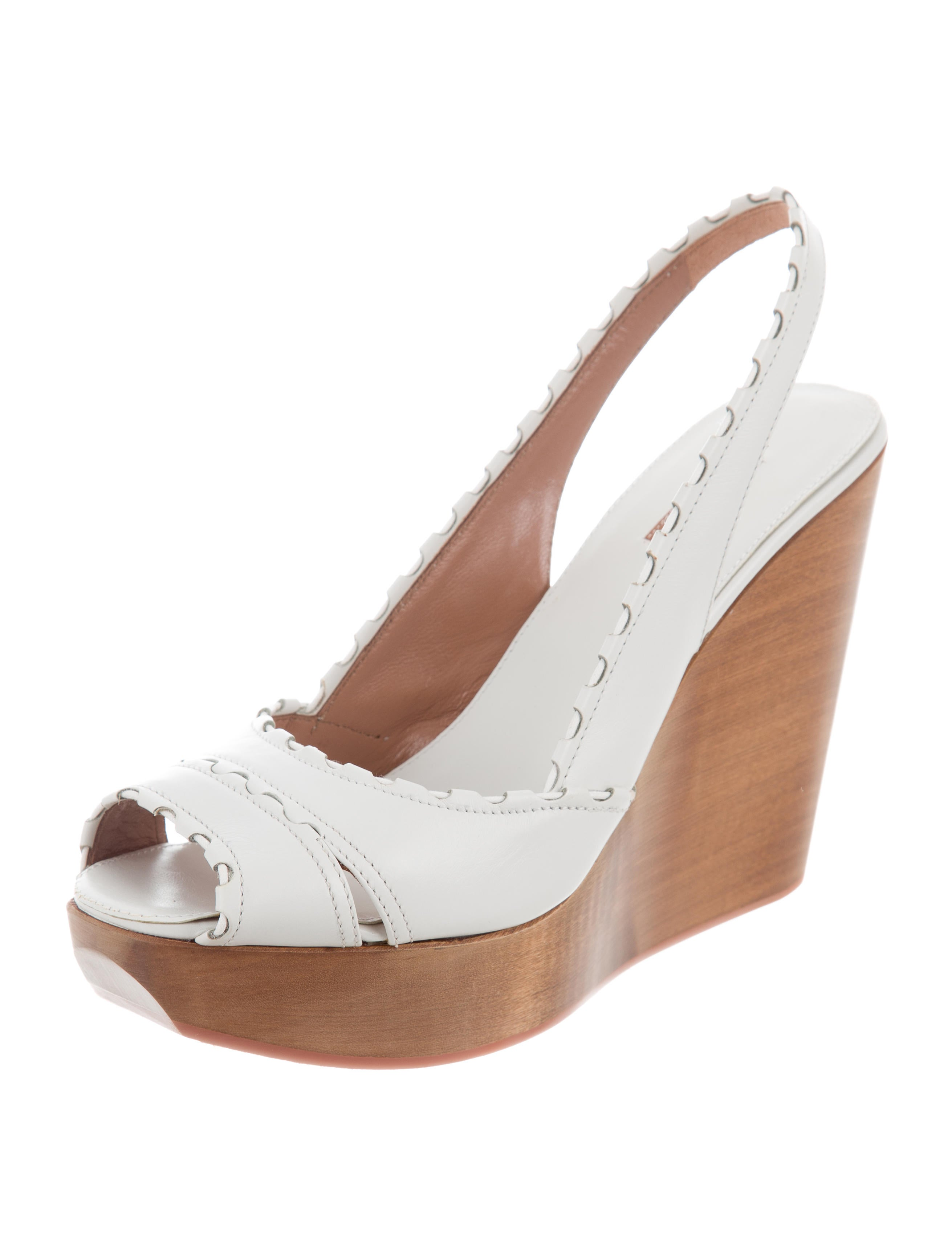 cheapest price sale 2014 new Alaïa Leather Slingback Wedges w/ Tags buy cheap outlet locations 3QERoy7Q