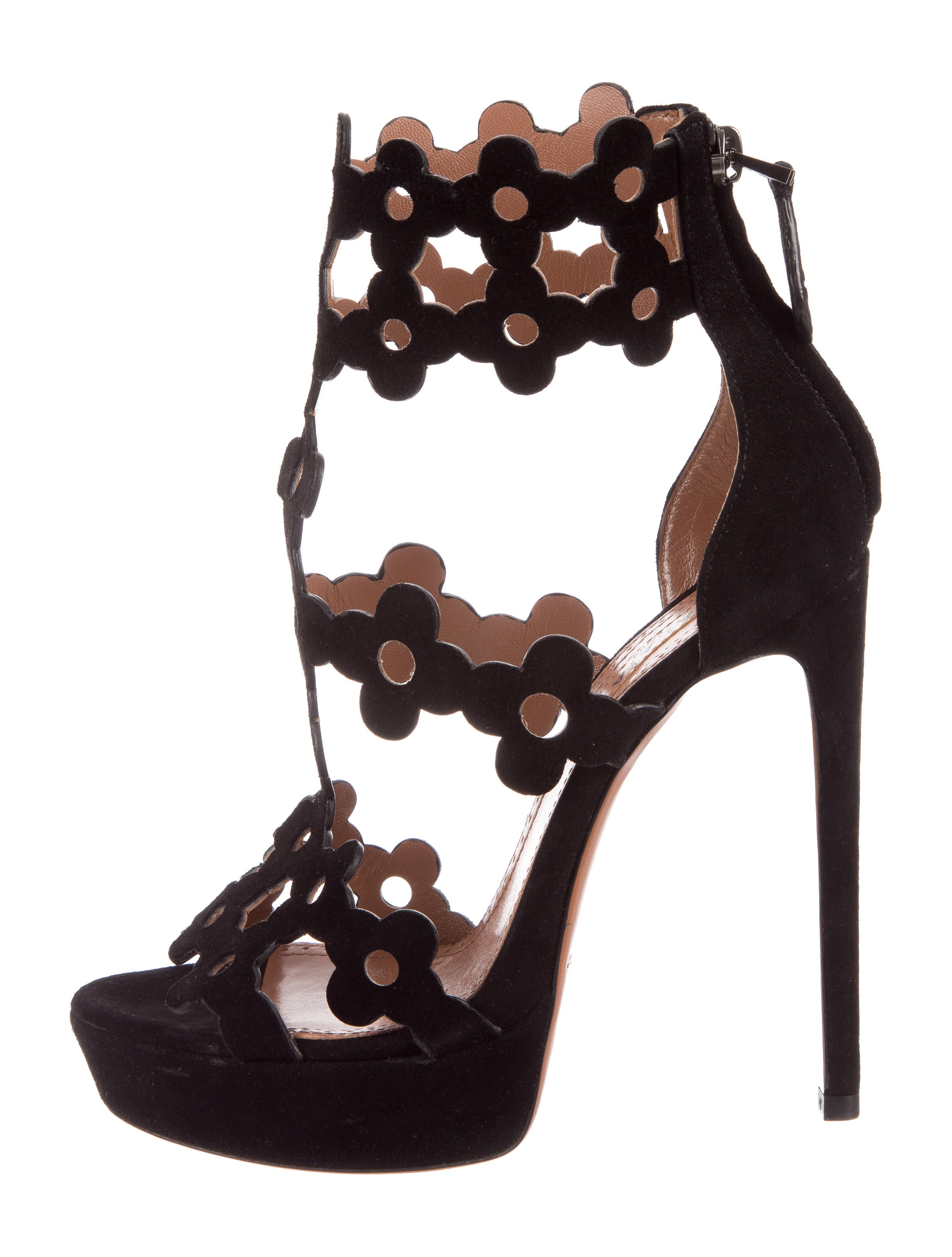 outlet store locations discounts cheap price Alaïa Scalloped Laser Cut Sandals geniue stockist sale online quality from china wholesale for sale very cheap 0A29Sp