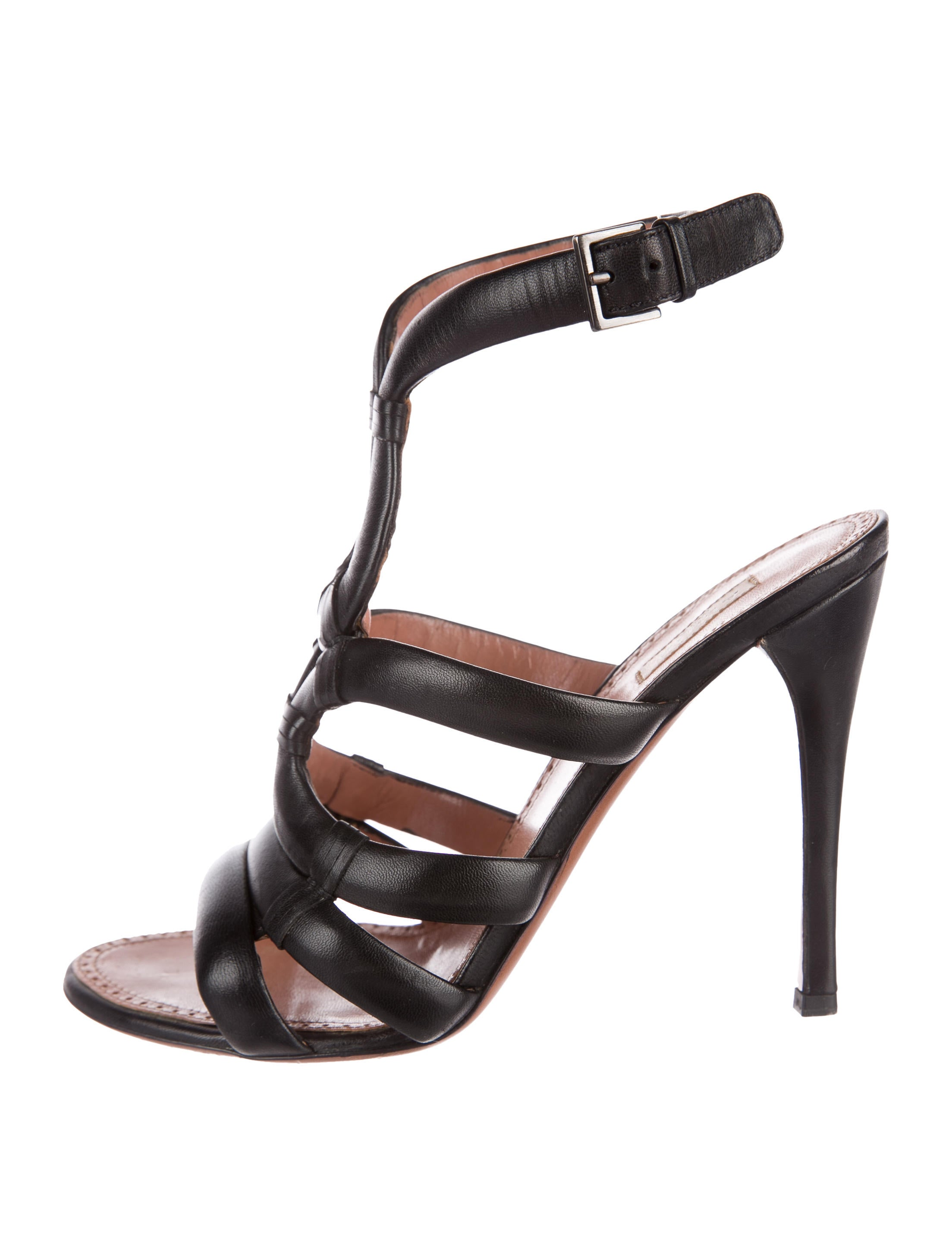 Alaïa Leather Ankle-Strap Sandals cheap affordable cheap price outlet sale 5Cd6s2EGht