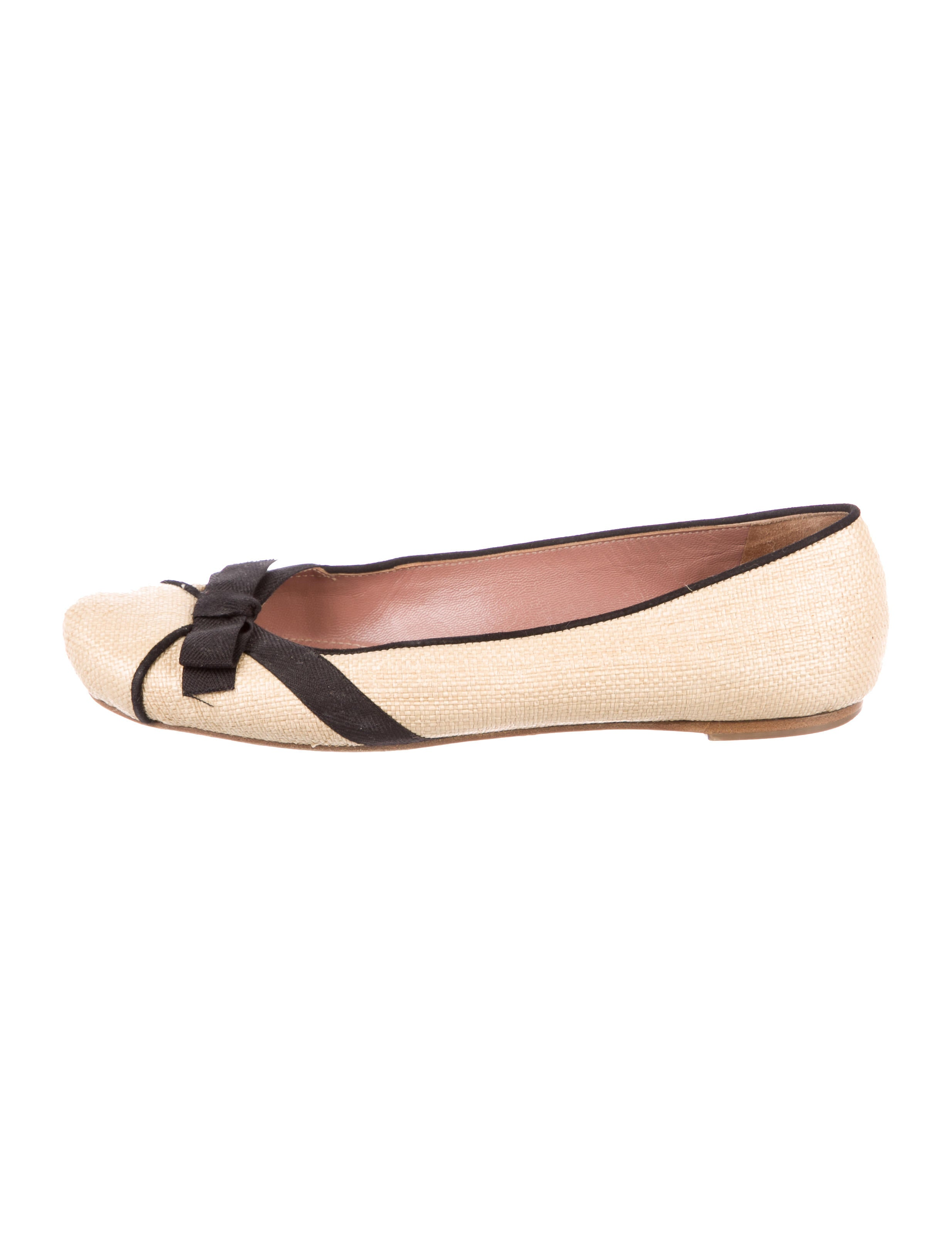 Alaïa Raffia Bow-Accented Flats 2015 new cheap price clearance footlocker finishline sale top quality cheap sale choice CHfUO3A