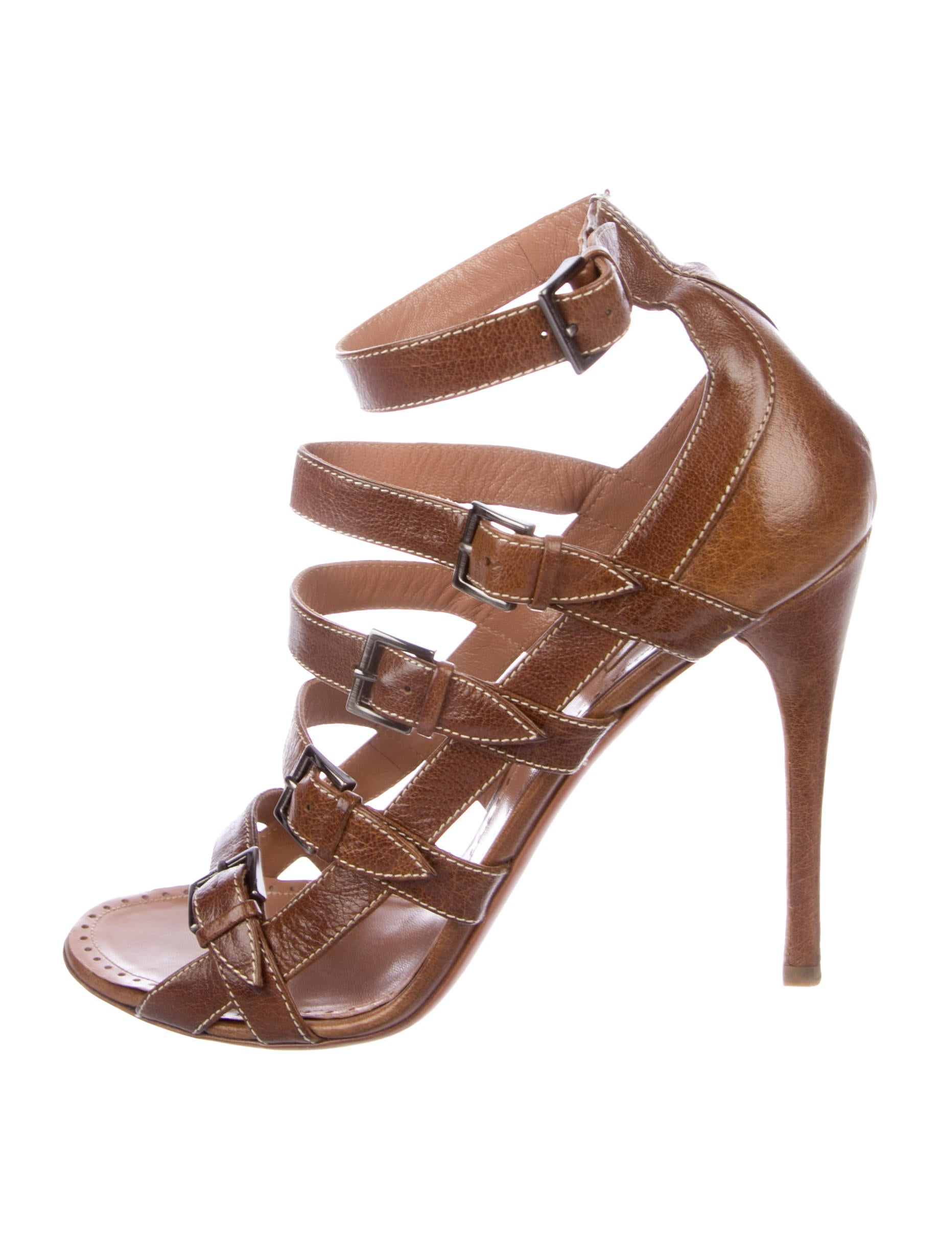 discount good selling Alaïa Leather Multistrap Sandals countdown package online 04L3h