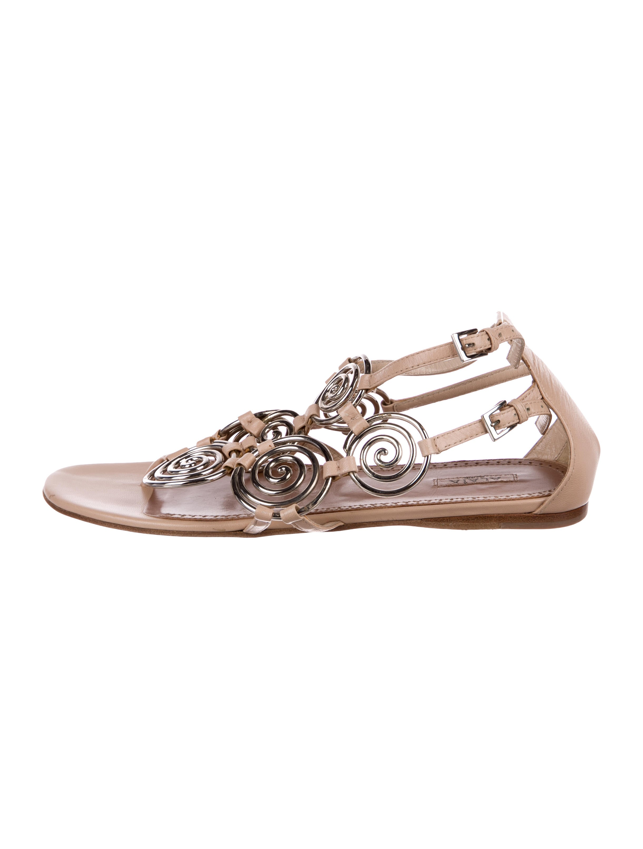 limited edition cheap online Alaïa Spiral Link Sandals tumblr cheap price best seller for sale CXeLQ