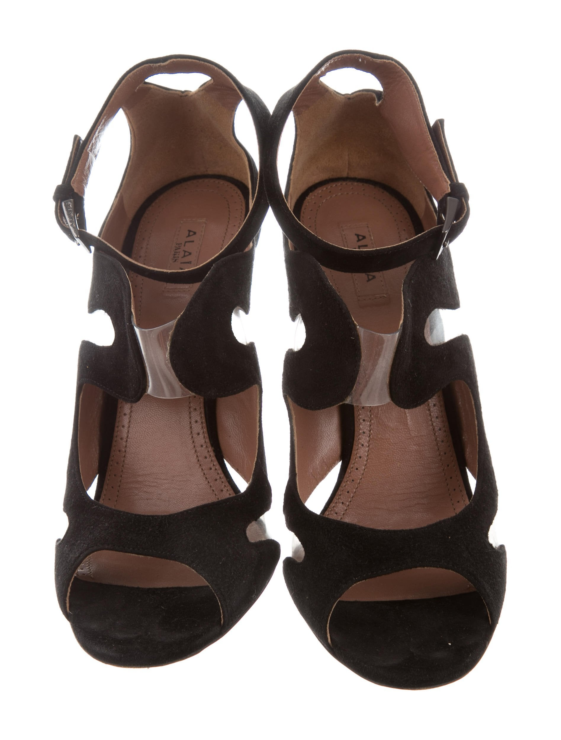 Alaïa Suede PVC-Accented Sandals with credit card free shipping qyMRKeDAC
