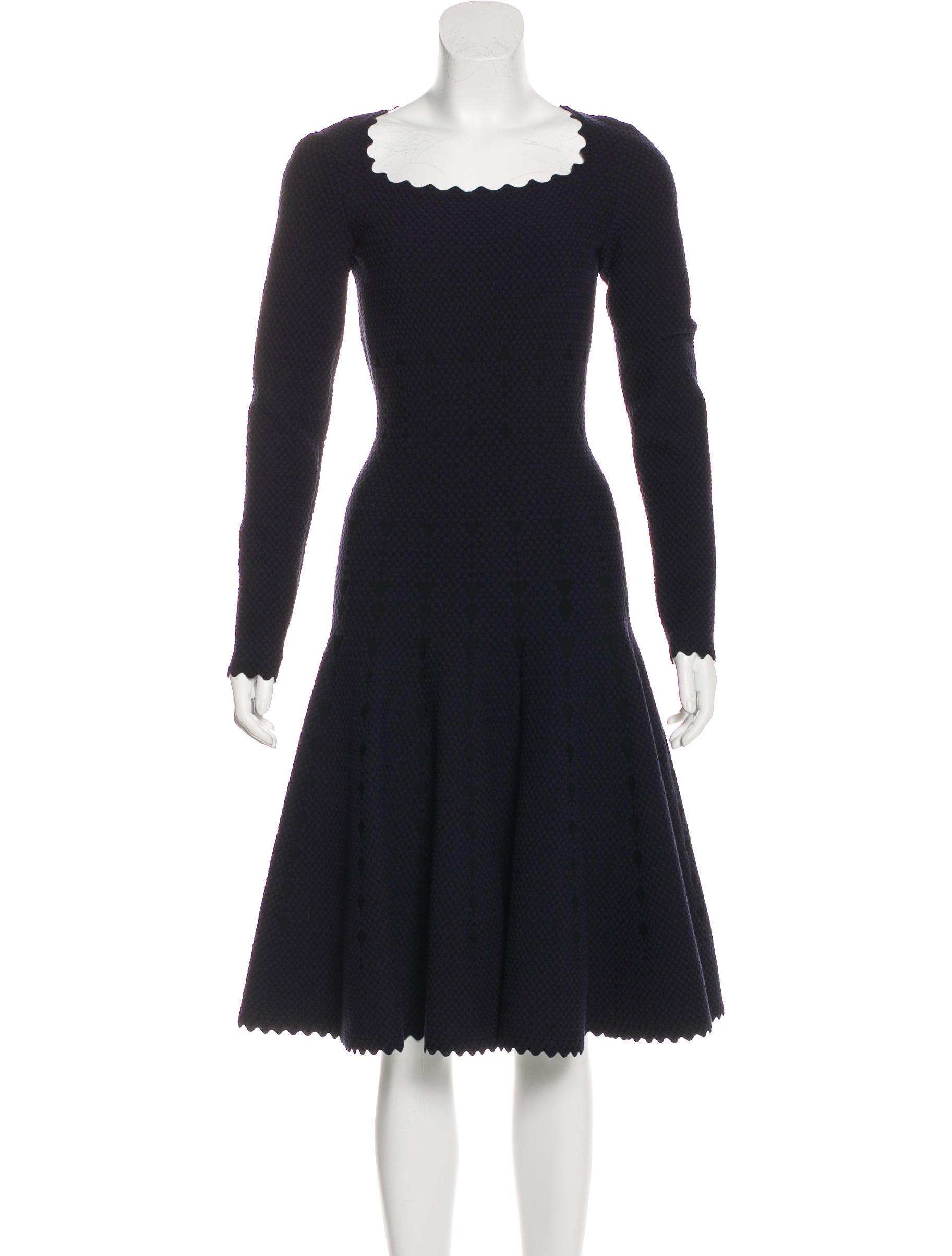 Discount Authentic Online Alaïa Fit & Flare Wool-Blend Dress w/ Tags Outlet Many Kinds Of Buy Cheap Pictures H9Uk8E