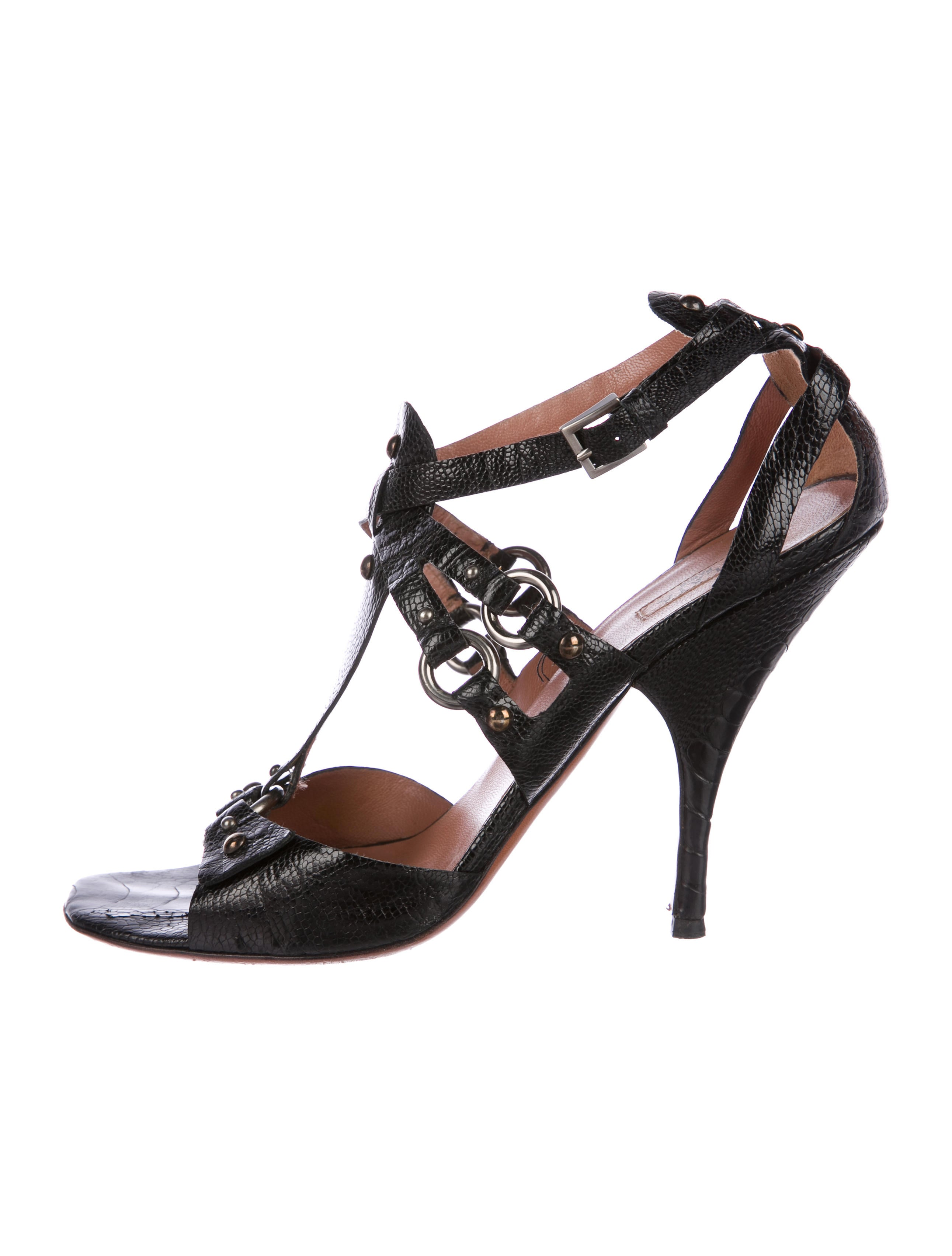 Alaïa Embossed Ankle Strap Sandals outlet ebay sale websites clearance low shipping discount Inexpensive cheap amazon MJs5VQN