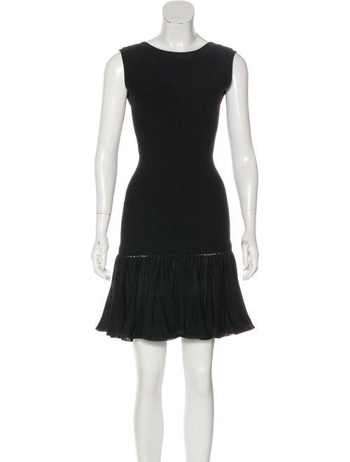 Alaïa Fit and Flare Dress Black