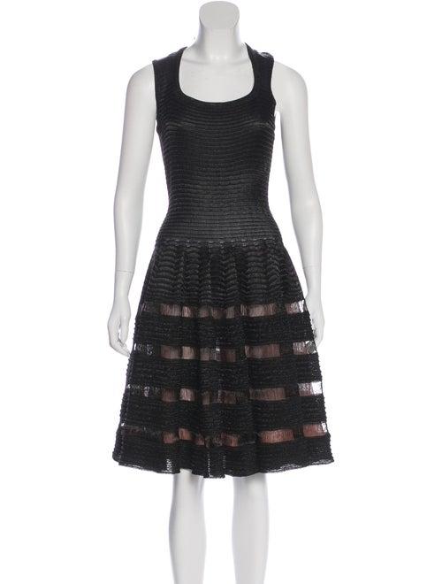Alaïa Textured Fit And Flare Dress Black