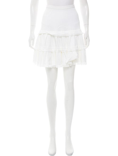 Alaïa Textured Knit Mini Skirt White