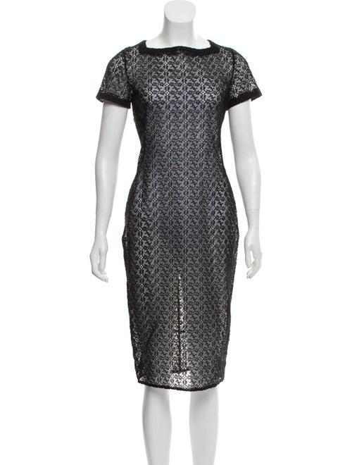 Alaïa Sheer Lace Dress Black