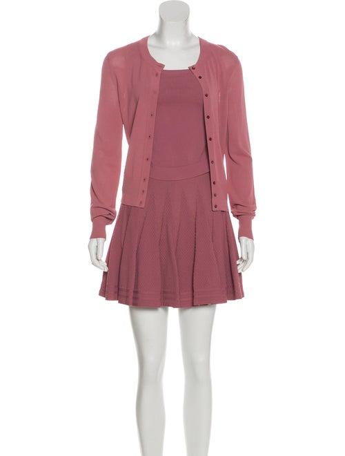 Alaïa Three-Piece Skirt Set. Mauve