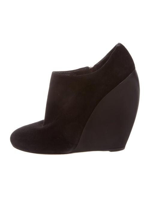 Alaïa Round-Toe Wedge Booties Black