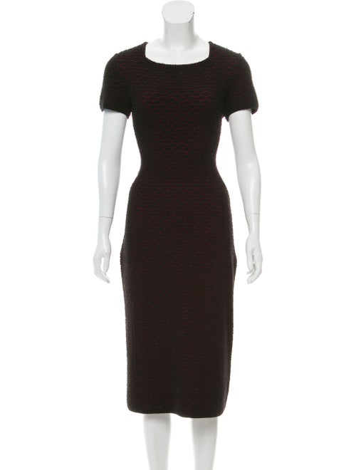 Alaïa Patterned Knit Dress Black