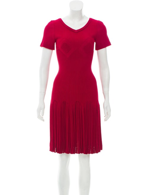 Alaïa Knee-Length Fit and Flare Dress