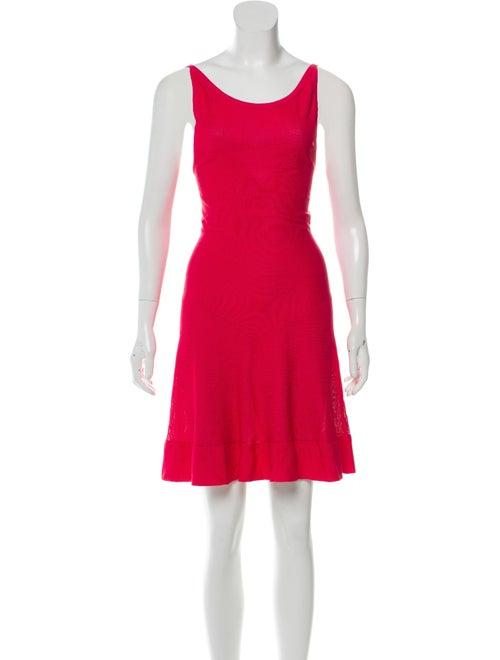 Alaïa Flared Knee-Length Dress Magenta