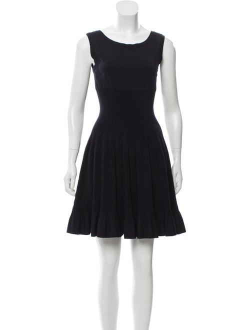 Alaïa Knit Fit and Flare Dress Black