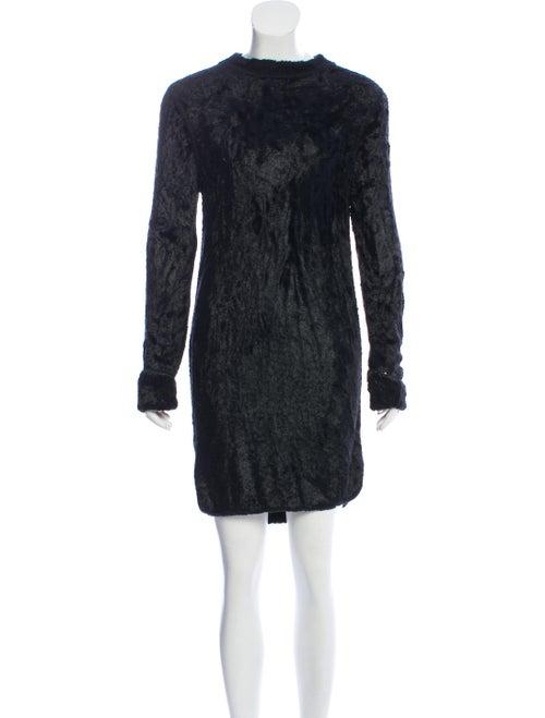 Alaïa Textured Knit Dress Black