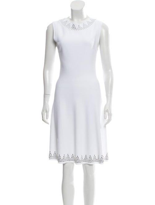Alaïa Sleeveless Knee-Length Dress White